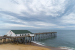 Kitty Hawk Pier under Cloudy Skies, Outer Banks, Kitty Hawk, NC