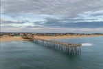 Outer Banks Fishing Pier under Cloudy Skies, Outer Banks, Nags Head, NC