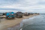 Oceanfront Homes along Atlantic Coast, Outer Banks, Hatteras Island, Rodanthe, NC