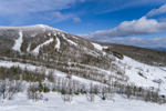 Bromley Mountain Ski Area in Winter, Green Mountains Region, View from Peru, VT