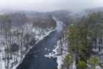 Millers River on a Foggy Winter Day, near Bearsden Forest Conservation Area, Athol, Ma
