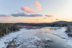 Winter Sunset at Lawrence Brook, Royalston, MA