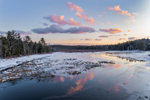 Winter Sunset at Lawrence Brook, Royalston, MA