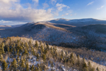 Mountains and Forests in Winter, Green Mountain National Forest, View from Searsburg, VT