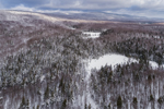 Green Mountain National Forest after Fresh Snowfall, View from Woodford, VT