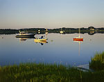 Calm Morning in Polpis Harbor with Boats and Reflections