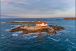 Early Morning Light Shines on The Cuckolds Light Station, The Cuckolds Islands, Southport, ME