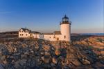 Goat Island Lighthouse in Evening Light, Goat Island, Cape Porpoise, Kennebunkport, ME