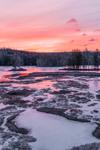Winter Sunrise at Harvard Pond, Petersham, MA