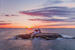 Sunrise at The Cuckolds Light Station, The Cuckolds Islands, Southport, ME