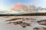 Winter Sunset at Royalston Eagle Reserve, Royalston, MA