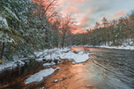 Late Winter Sunrise over Millers River, near Bearsden Forest Conservation Area, Athol, MA