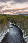 Late Winter Sunset over Millers River, near Bearsden Forest Conservation Area, Athol, MA