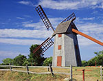 """Old Mill"" Windmill (circa 1746) under Bright Blue Skies"