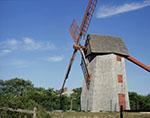 """""""Old Mill"""" Windmill (circa 1746) under Bright Blue Skies"""
