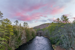Colorful Sunset over Millers River, near Bearsden Forest Conservation Area, Athol, MA