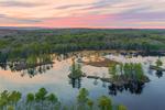 Colorful Sunrise at Harvard Pond, Petersham, MA