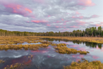 Cloud Reflections and Colorful Sunset at Royalston Eagle Reserve, Royalston, MA