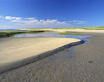 Sand Patterns and Salt Marsh along Shoreline of Great Island, Cape Cod National Seashore
