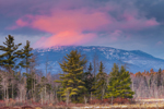 Pink Clouds at Sunset over Mt. Monadnock, View from Fitzwilliam, NH