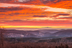 Spectacular Sunrise over Green Mountain National Forest, View from Dover, VT out to Mt. Monadnock in Jaffrey, New Hampshire, Dover, VT