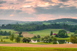 Early Morning Light over Farmland in Hudson River Valley, Duchess County, Stanford, NY