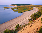 View from Cliff to Beach and Salt Marsh on Great Island, Cape Cod National Seashore