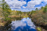Cloud Reflections in Five Mile River, Killingly, CT