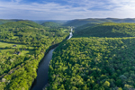 Housatonic River and Litchfield Hills in Spring, Kent, CT