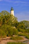 St. Marks Lighthouse, St. Marks National Wildlife Refuge, Gulf Coast, Florida Panhandle, Gulf of Mexico, Wakulla County, FL