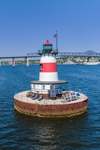 Borden Flats Lighthouse, Mount Hope Bay and Taunton River, Fall River, MA