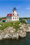 Pomham Rocks Lighthouse, Built 1871, Providence River, East Providence, RI