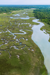 Quivett Creek and Salt Marshes in Spring, Cape Cod, Brewster, MA
