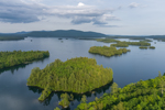 Carns Cove and Islands on Squam Lake, Holderness, NH