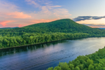 Sunset over Mt. Nonotuck and the Connecticut River, Holyoke, MA