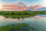 Colorful Sunset with Cloud Reflections at Powder Mill Pond on Contoocook River, Hancock, NH