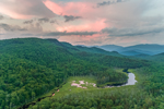 Glover Brook with Franconia Range in Distance at Sunset, White Mountain National Forest, View from Woodstock, NH