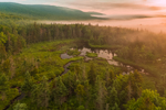 Wetlands in Early Morning Ground Fog at Sunrise, White Mountain National Forest, Woodstock, NH