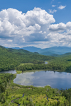 Elbow Pond with Franconia Range in Distance, White Mountain National Forest, View from Woodstock, NH