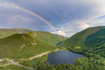Rainbow over Franconia Notch and Echo Lake, View from Artists Bluff, Franconia Range, White Mountains, Franconia, NH