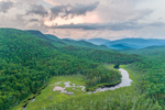 Glover Brook with Franconia Range in Distance, White Mountain National Forest, View from Woodstock, NH