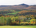 Rural Vermont and Haystack Mountain in Fall