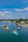 Colorful Lobster Boats on Kennebunk River, Kennebunkport and Kennebunk, ME