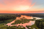 Salt Marsh and York River at Sunset, York, ME
