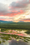 Sunrise at The Logans Wetlands and Kennebago River with Mountains in Distance, Kennebago Lake Region, Stetsontown TWP, ME