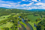 Farmland along Hoosic River in Summer, Green Mountains in Distance, Pownal, VT