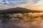 Morning Ground Fog at Sunrise over Mount Monadnock, Jaffrey, NH