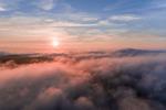 Early Morning Ground Fog at Sunrise, Jaffrey, NH