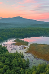 Sunrise over Mount Monadnock and Meetinghouse Pond, Meetinghouse Pond Wildlife Sanctuary, Marlborough, NH