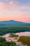 Sunrise over Mount Monadnock and Meetinghouse Pond, Meetinghouse Pond Wildlife Sanctuary, Marlborough, NH